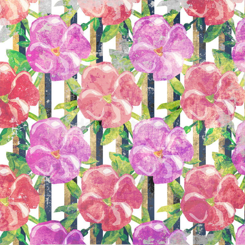 Grunge floral υπόβαθρο ύφους σχεδίων εκλεκτής ποιότητας ελεύθερη απεικόνιση δικαιώματος