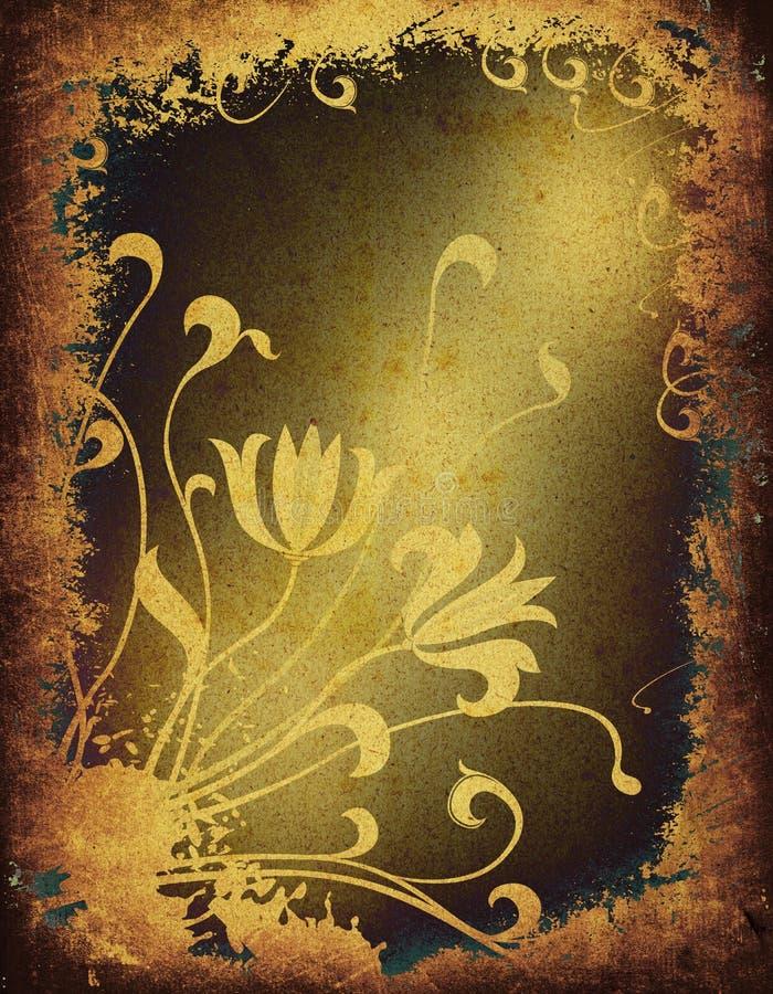 Download Grunge floral stock illustration. Illustration of aging - 1945066