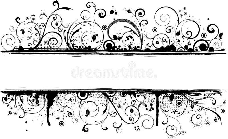 Grunge floral ilustração royalty free