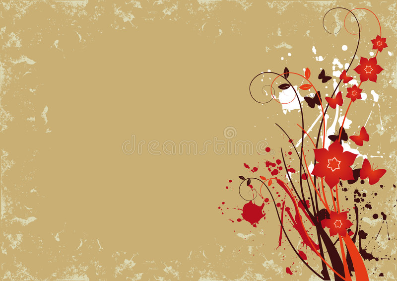 Grunge Floral Background 1 stock photography