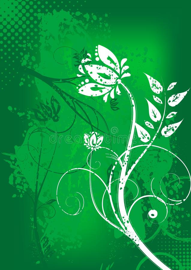 Download Grunge floral background stock vector. Image of image - 13836650