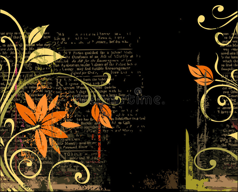 Grunge floral background royalty free illustration