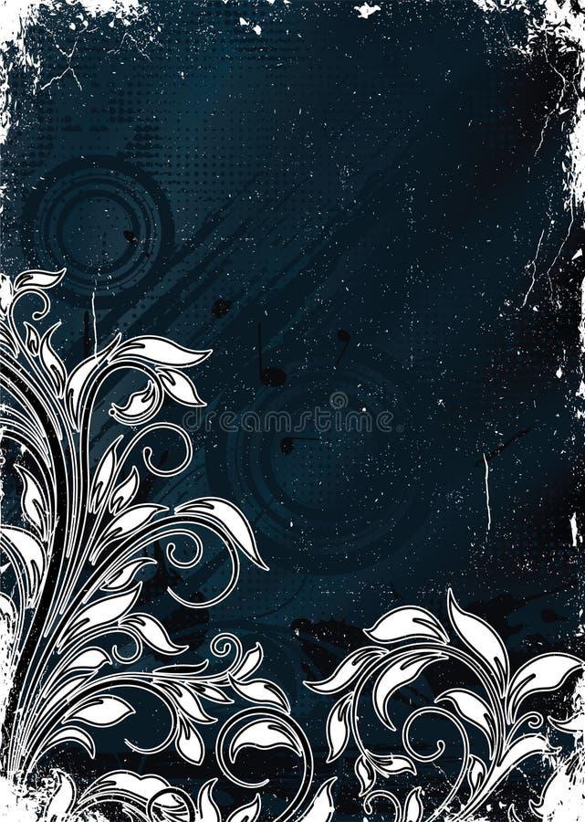 Download Grunge floral background stock illustration. Image of decor - 25477579