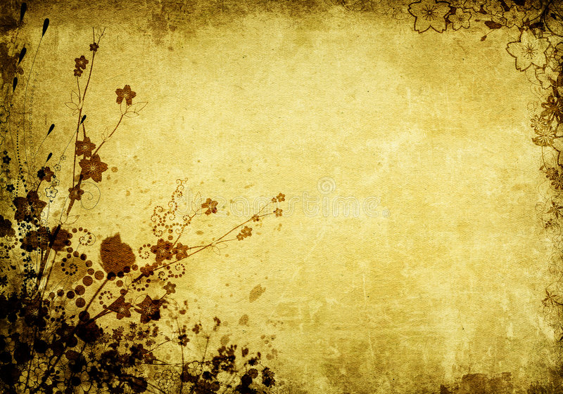 Download Grunge floral background stock illustration. Image of empty - 4956266