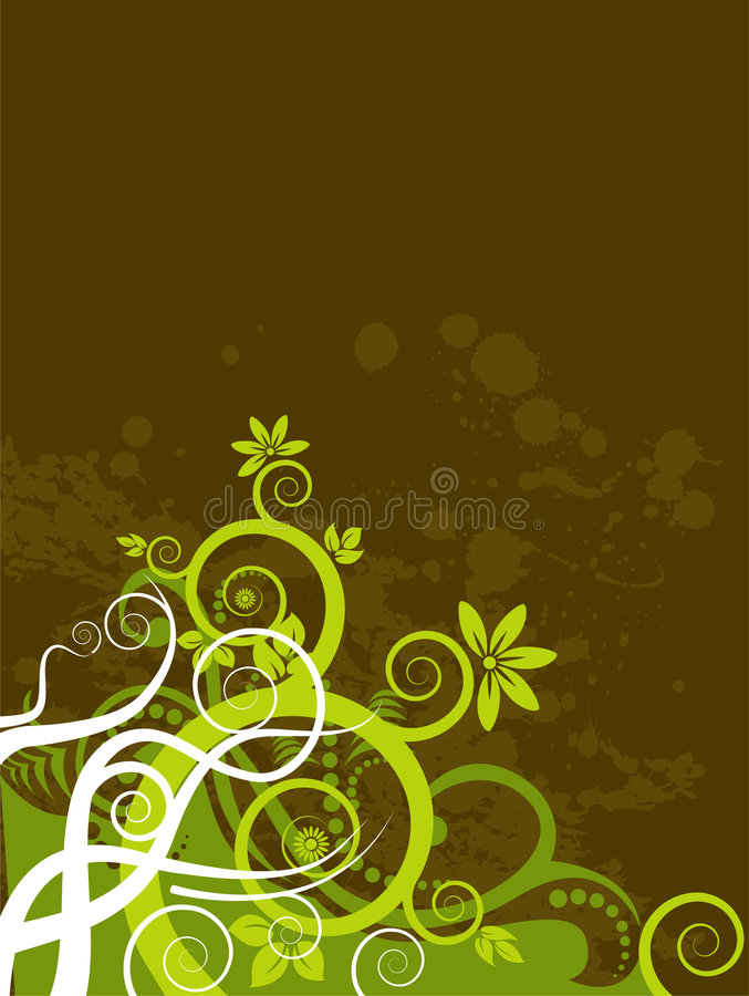 Grunge Floral Background stock illustration