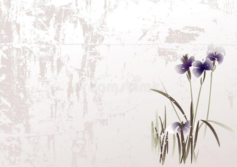 Download Grunge floral background stock vector. Image of card, elegance - 9373624