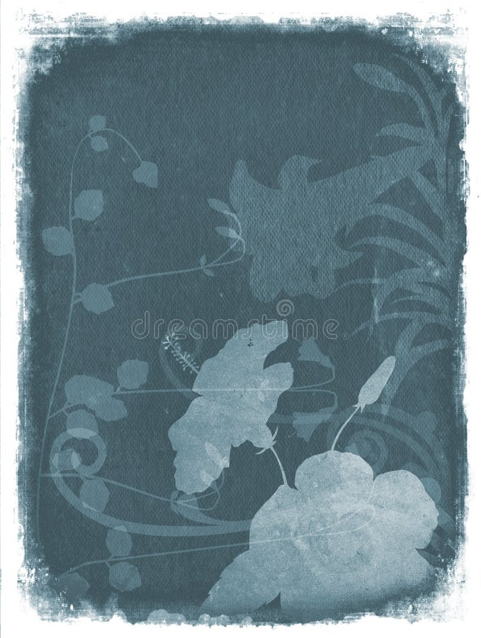 Free Grunge Floral Background - Blue Royalty Free Stock Photo - 1257965