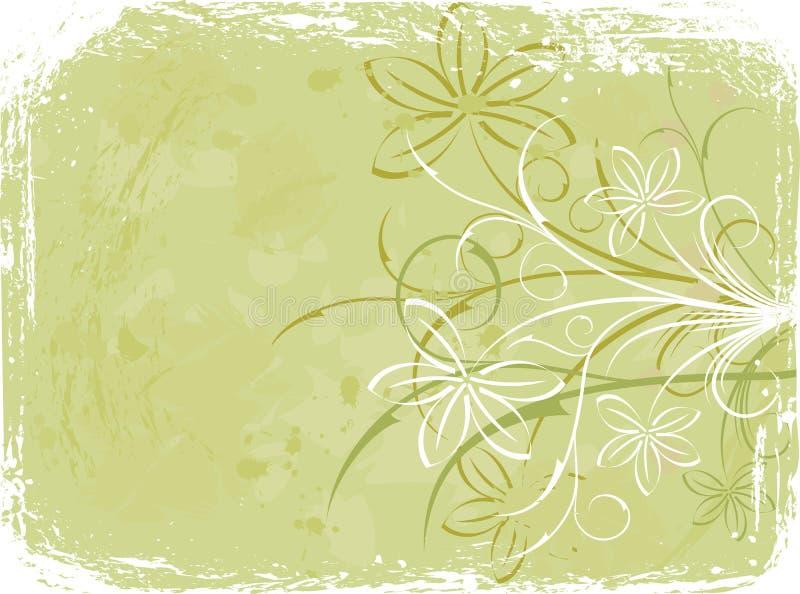 Grunge floral background, elements for design, vector royalty free illustration