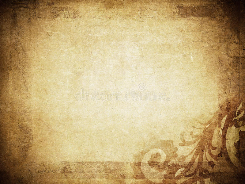 Download Grunge Floral Background With Space For Text Stock Illustration - Image: 14853029