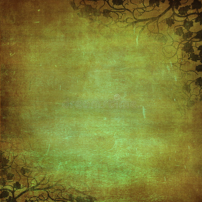 Grunge floral background with space for text or im royalty free illustration