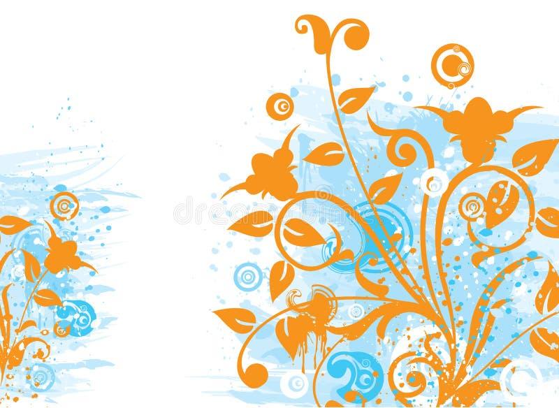 Grunge floral background, vector vector illustration