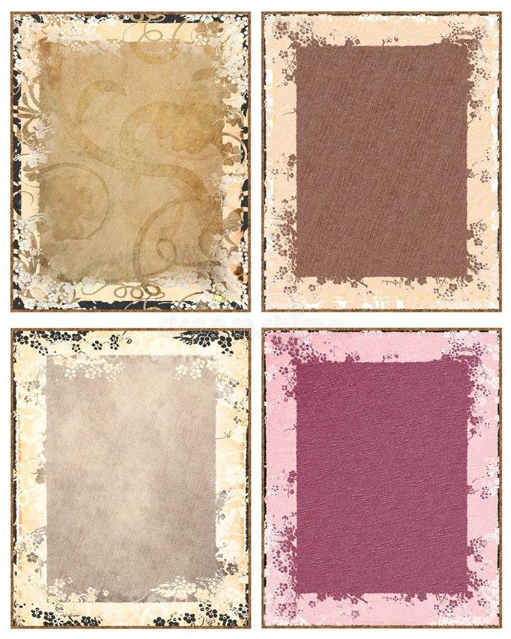 Grunge floral backgrounds stock illustration