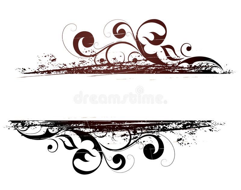 Download Grunge floral banner stock vector. Illustration of isolated - 7610405