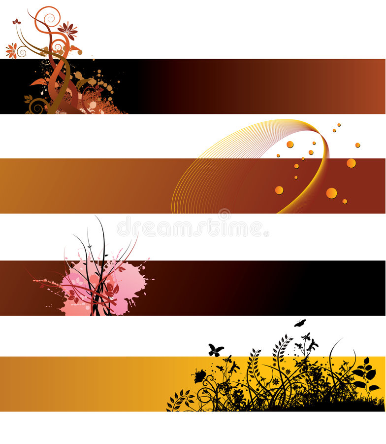 Grunge floral banners royalty free illustration