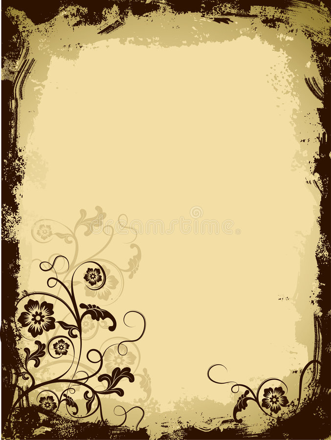 Download Grunge Floral Border, Vector Stock Photography - Image: 2146552