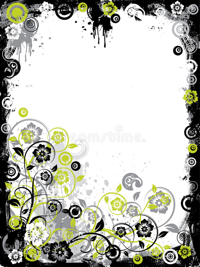 Download Grunge Floral Border, Vector Stock Vector - Image: 2183445