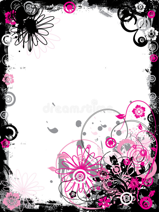 Download Grunge Floral Border, Vector Stock Vector - Image: 2187926
