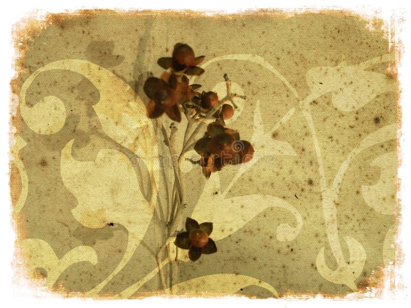 Grunge floral composition stock illustration