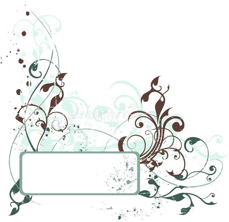 Grunge floral composition stock photos