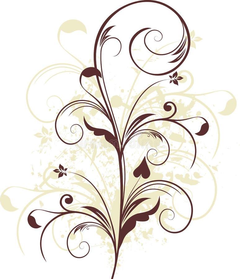 Free Grunge Floral Design Royalty Free Stock Photo - 7663075