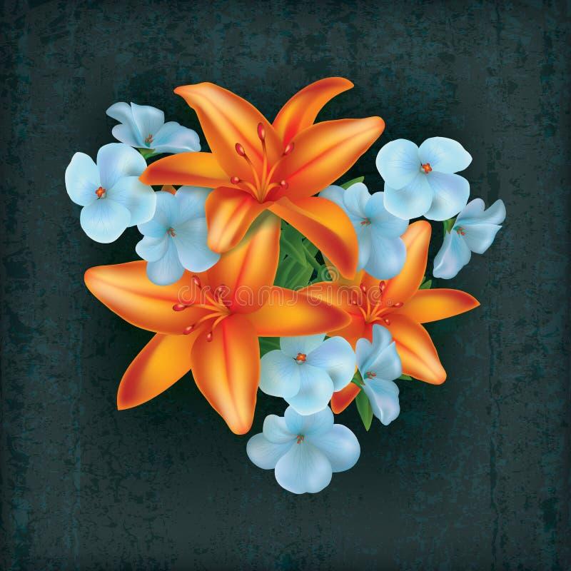 Download Grunge floral illustration stock vector. Illustration of plant - 18846212