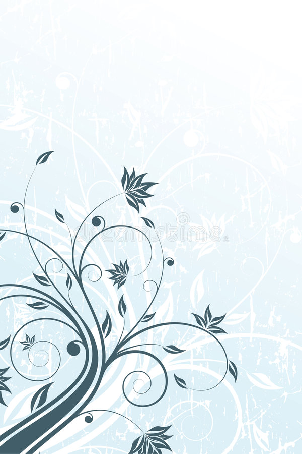 Grunge Floral scroll stock illustration