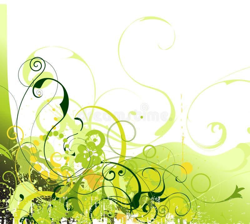 Grunge floral vector. Grunge spring flower illustration vector stock illustration