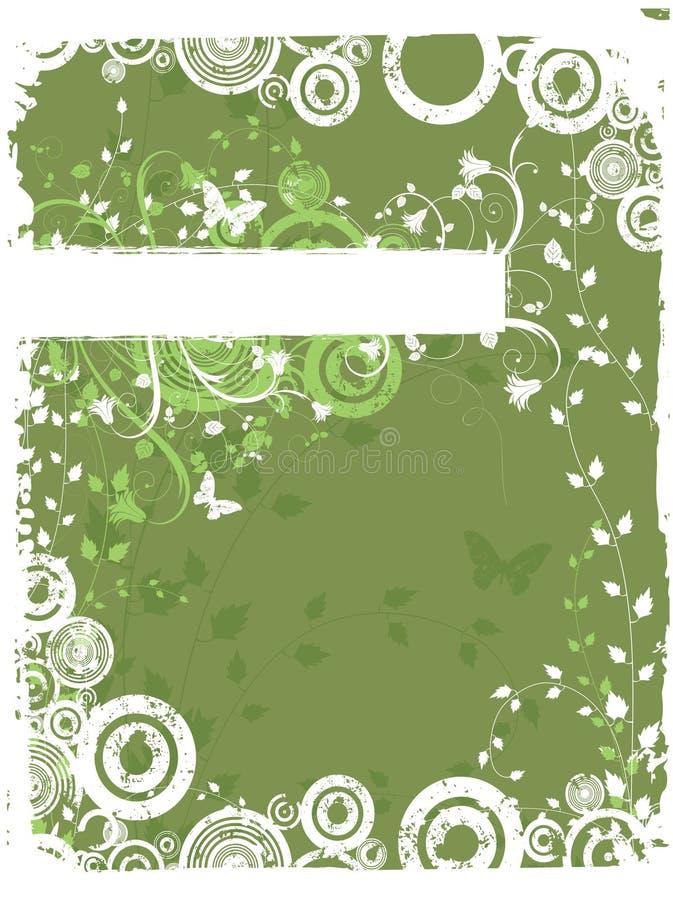 Grunge florale chaotique illustration libre de droits