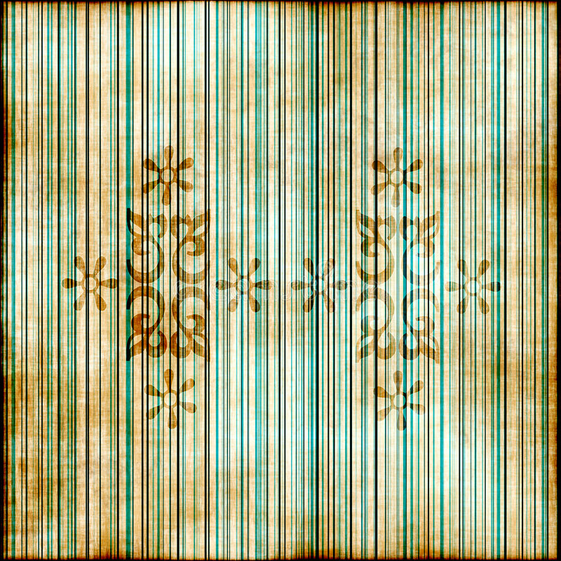 Grunge florale rayée illustration stock