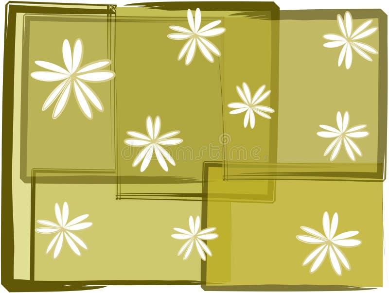 Grunge florals lizenzfreie abbildung