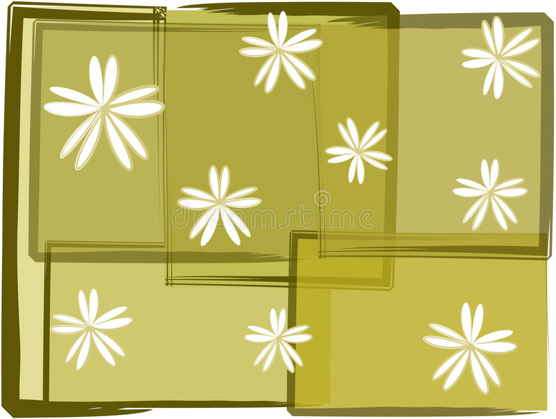 Grunge florals royalty free illustration