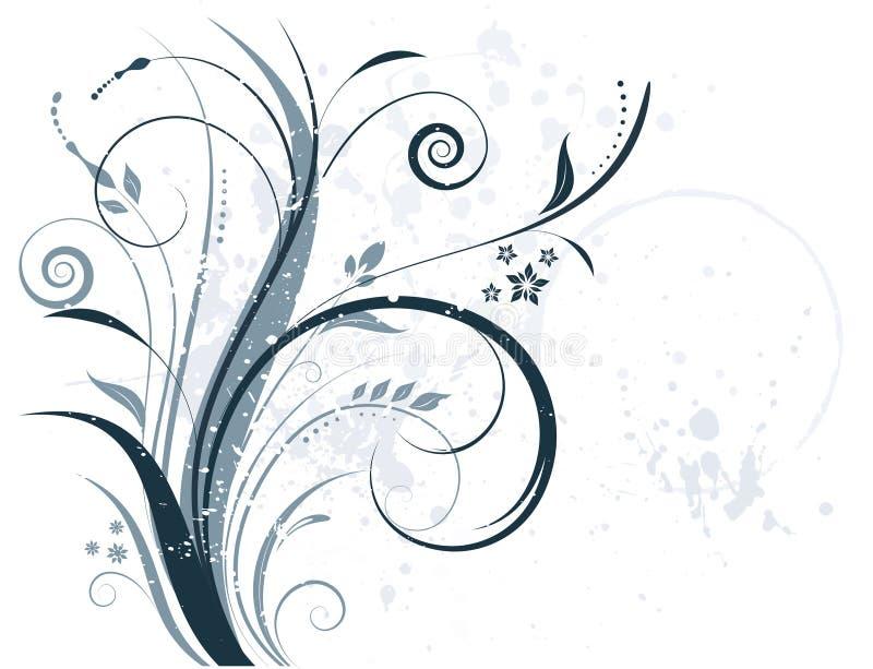 Grunge floreale illustrazione vettoriale