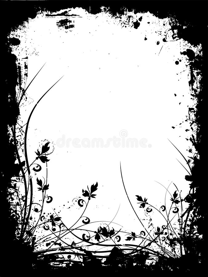 Grunge floreale illustrazione di stock