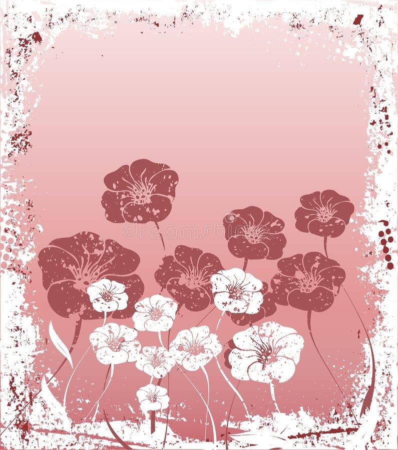 Grunge floreale royalty illustrazione gratis