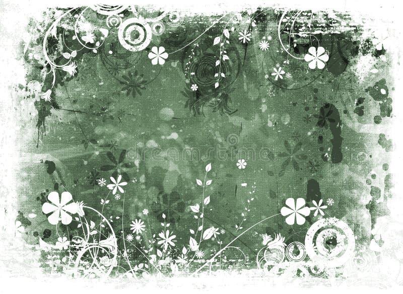 Grunge floreale caotico illustrazione vettoriale