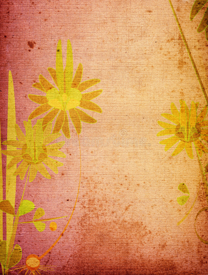 Grunge flower. Grunge landscape with flower; illustration stock illustration