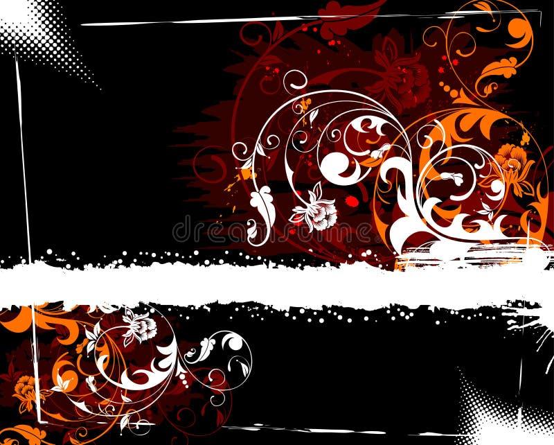 Grunge flower background royalty free illustration