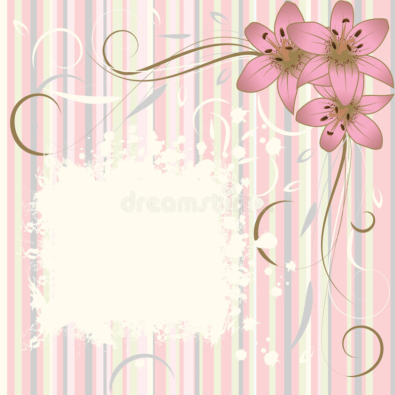 Free Grunge Flower Background, Element For Design Royalty Free Stock Photo - 14066355