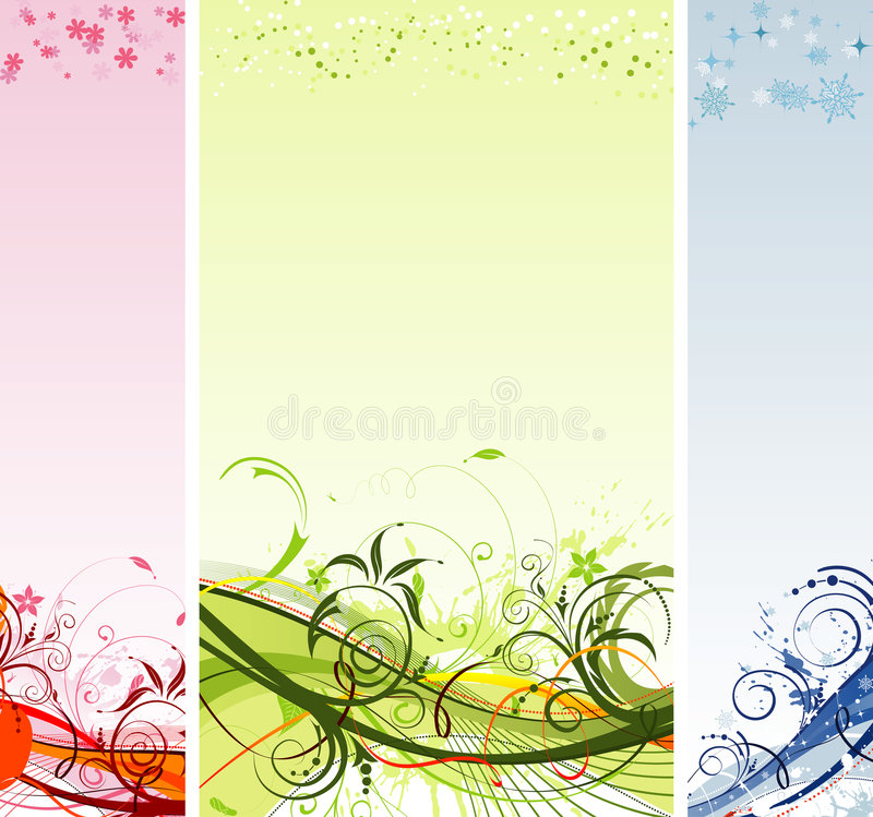Grunge flower and Christmas royalty free stock photos