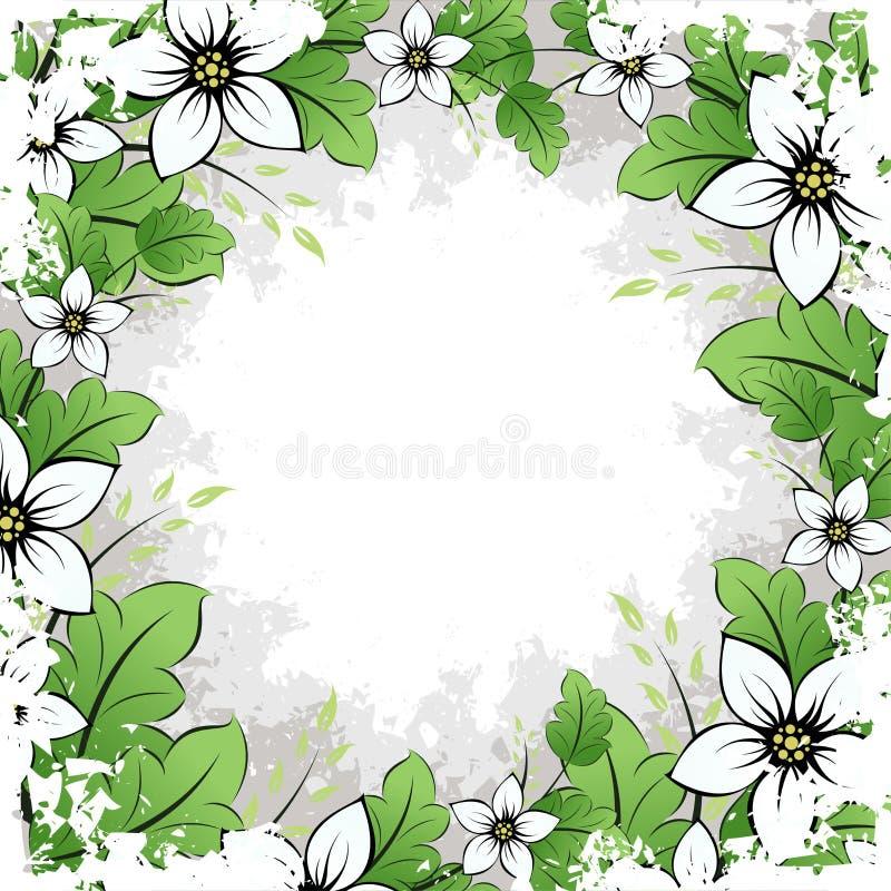 Grunge Flower Frame stock photo