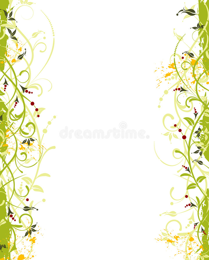 Grunge flower frame royalty free illustration