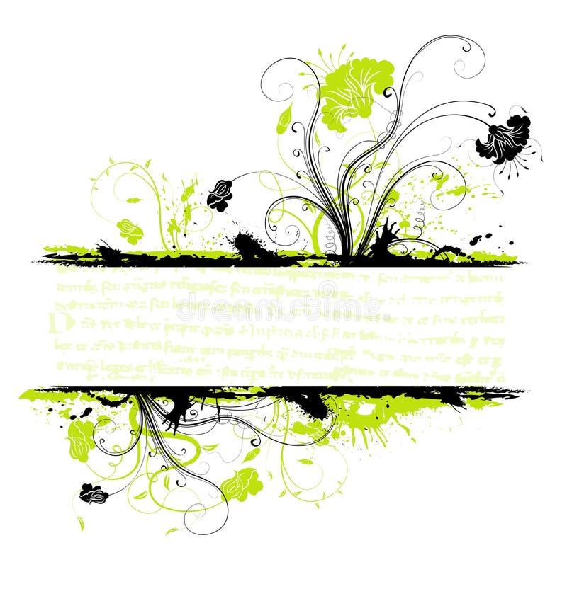 Grunge flower frame stock illustration