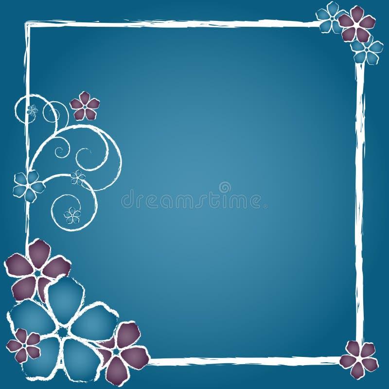Download Grunge Flower Frame stock illustration. Image of dark - 4302351
