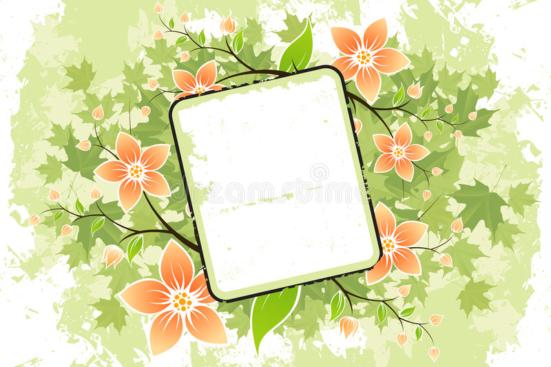 Grunge Flower frame royalty free stock photos