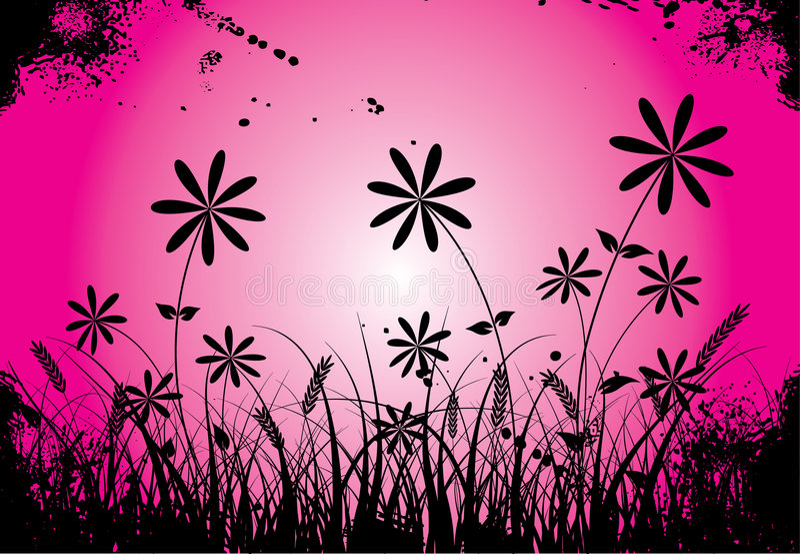 Grunge flower, vector royalty free illustration