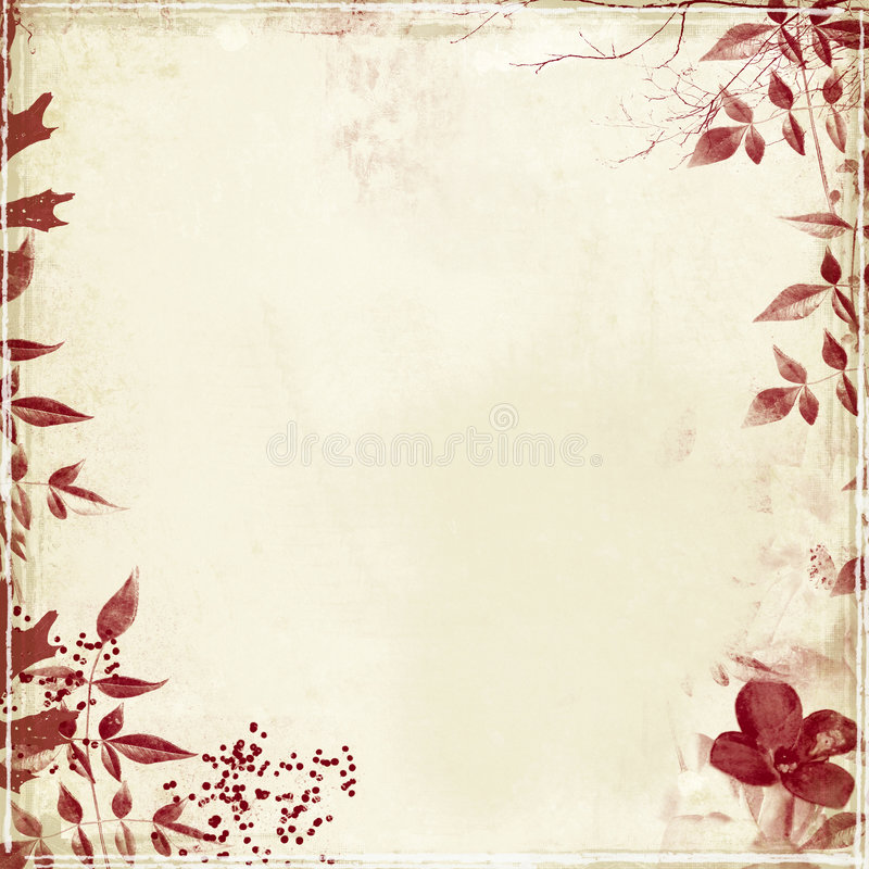 Download Grunge With Foliage And Flower Stock Photo - Image: 3882078