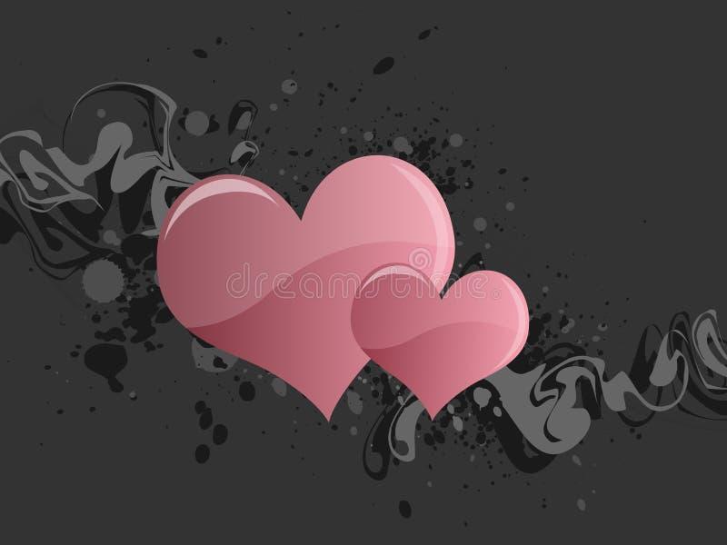 Grunge foncée de coeur illustration de vecteur