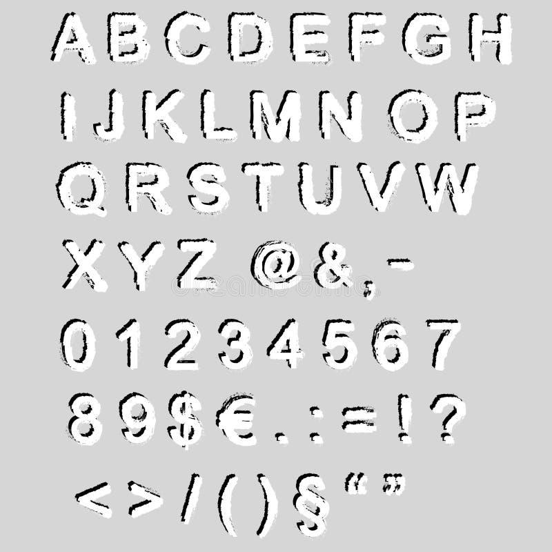 Download Grunge font - vector stock vector. Illustration of artistic - 23481590
