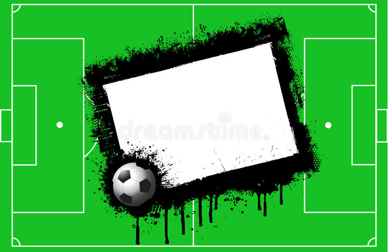 Grunge Football Background Stock Photography