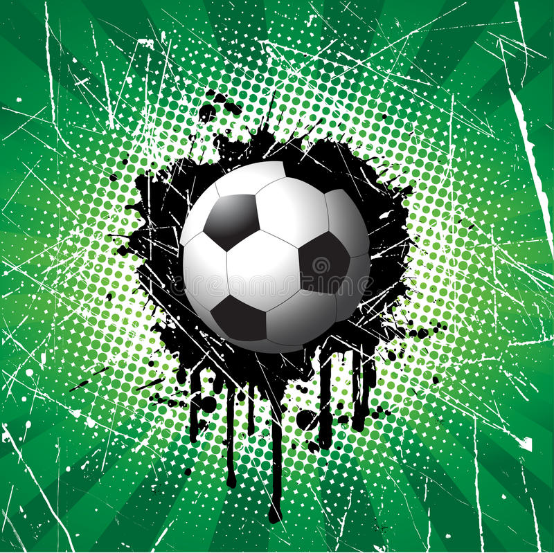 Grunge football background vector illustration
